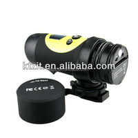 Free shipping waterproof AVI format sport video camera with 1.3Mega pixels CMOS