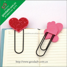 Lovely Hearted-Shaped soft pvc bookmark with discount price