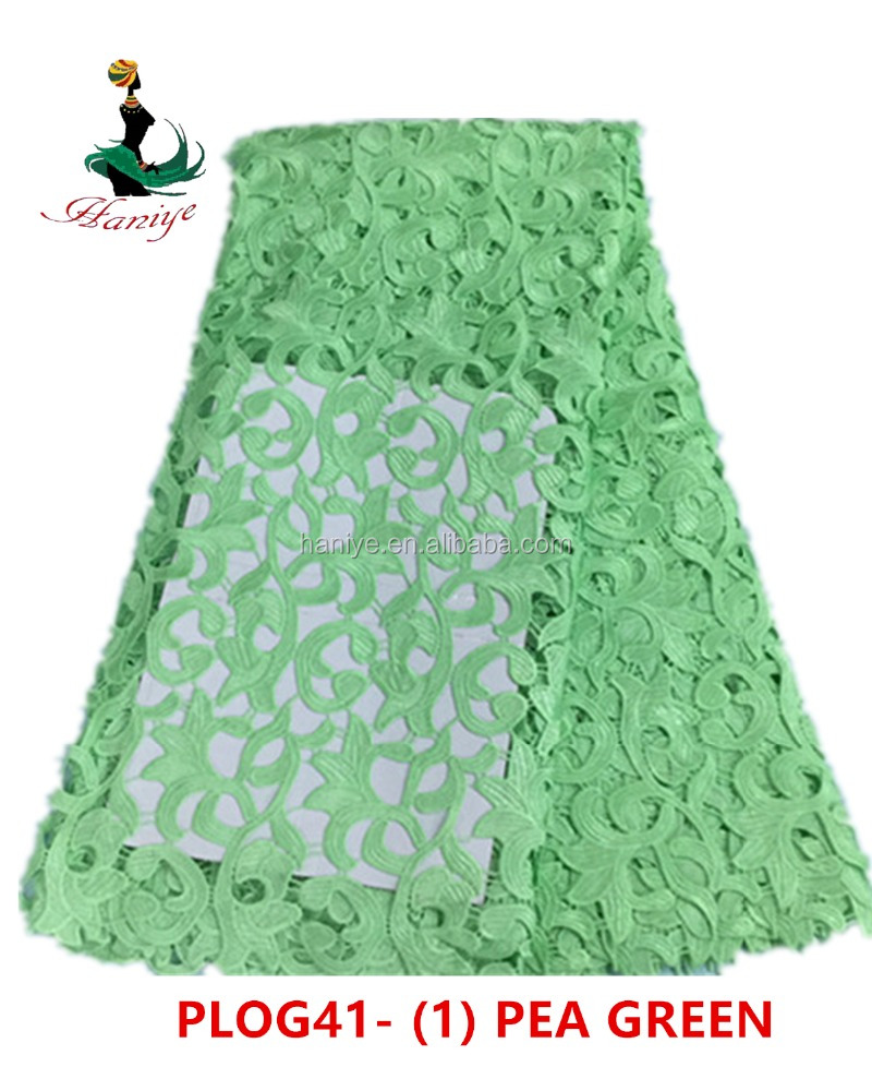 Haniye PLOG41 Online wholesale african embroidery design guipure lace rose flower lace fabric/Cheap african dry lace