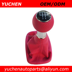 YUCHEN Car Shift Gear Knob Pink Leather Gear Shift knob Cover For Audi A3 8L S3 2000-2003