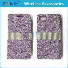 Diamond Glitter Rhinestone Bling ID Card Wallet Folio Pouch Case For iPhone 7