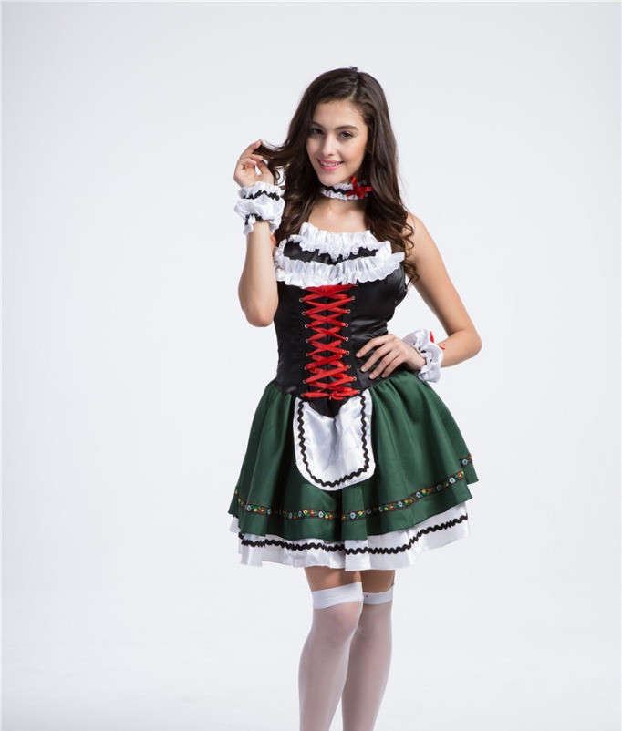 New Fashion halloween costume beer festival costumes sexy sexy French  maid costume