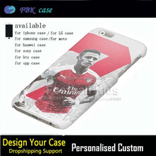 Mobile phone accessories showcase design for sale,for iphone 6 Football super star number