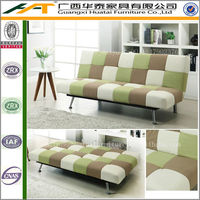 Colorful Leather Living Room Sofa bed Furniture Function PU leather Sofa bed