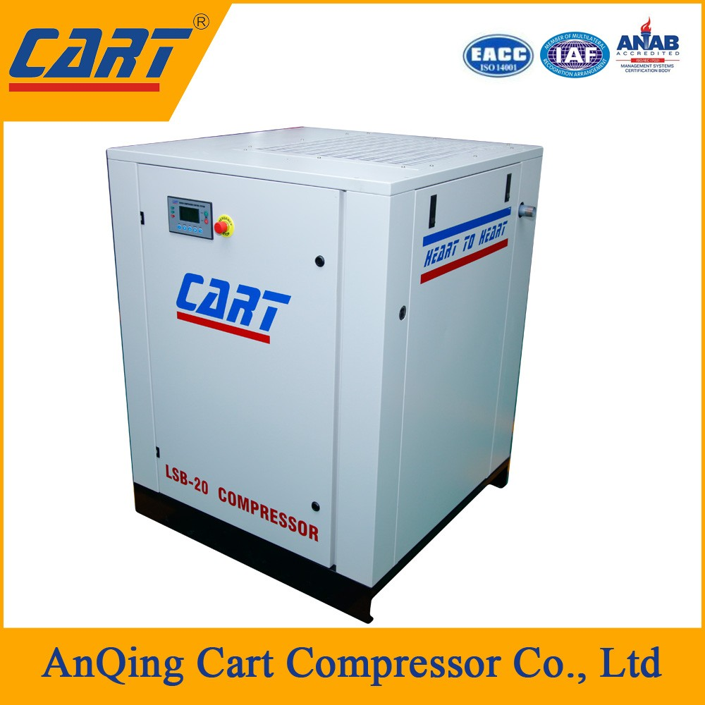 15kw 20hp removal of waste paper head box screw air compressor for papermaking factory