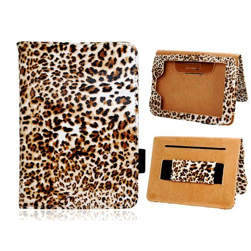 "Leopard Pattern with Belt and Stand Magnetic Flip Leather Case for Amazon Kindle Fire Paperwhite 6"" Ebook"