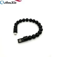 High quality Creative beaded bracelet data charger cable suitable for Android Samsung phone