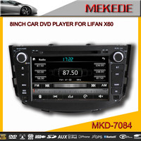 MTK Dual Core 1080P video 10EQ band Car DVD player for lifan X60 with IPOD BT TV 3G radio built in MIC RDS GPS navigation
