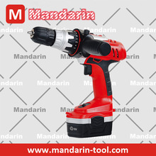 Two speeds fast charger LED light powerful lithium battery drill 18V