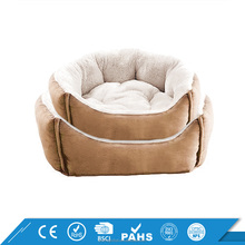 Luxury Micro Suede Plush Travel Filling Orthopedic Portable Modern Pet Sofa Dog Bed