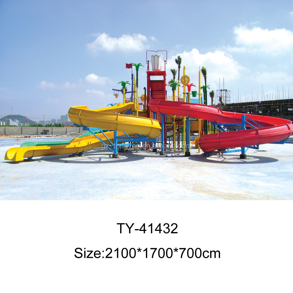 Large fiberglass water park slides for sale Spin water park, used water park slide,water park design build