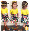 2015 latest girls summer hot selling children clothing baby outfits wholesale clothing market