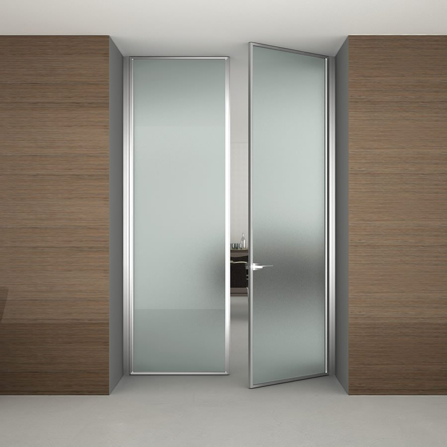 Aluminum frame frosted glass partition