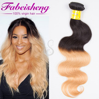 7a Spiral Curl 100% human Ombre Braiding Hair, Unprocessed Ombre Bundles Hair Weaves