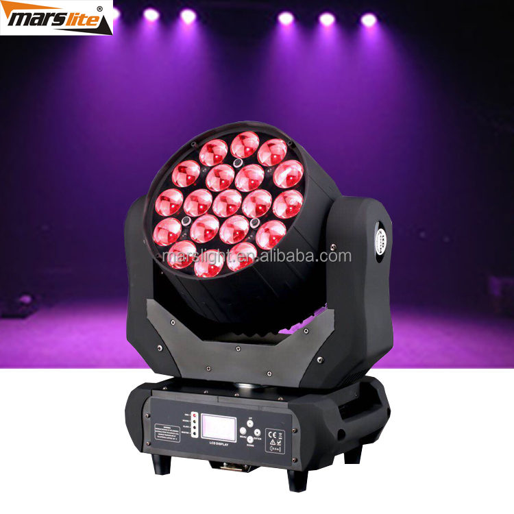 2017 Sharpy Wash 19*12W RGBW 4in1 Bee Eye LED Moving Head Wash Light With ZOOM Function