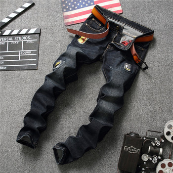 Hole new style pent skinny jeans classic men