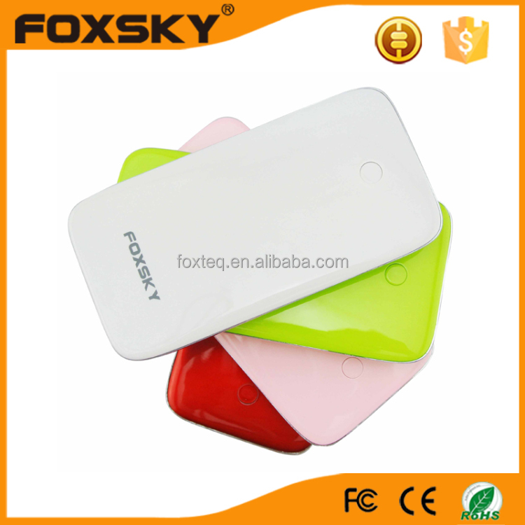 2016 hot selling customized 6000mah portable power bank for mobile phone and tablet pc