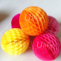 4inch wedding tissue honeycomb ball gmae hanging balls promotional item decoration ball