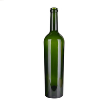 Free shipping 750ml glass wine bottle dark green for sale
