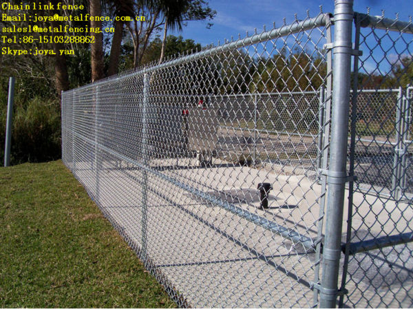 Y arm barbed wire chain link security fence