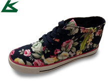 High Ankle Women Art Craft Canvas Shoes