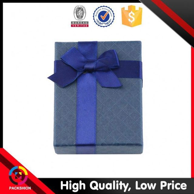 Premium Quality Steady Supply Custom Printing Logo Navy Blue Gift Boxes
