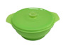 Collapsible Silicone Bowl With Lid, Assorted Colors Set of 3 lunch box kids