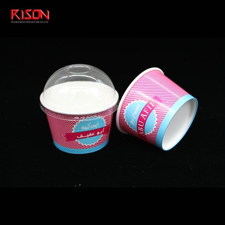 8oz ice cream paper cup with line