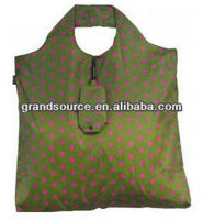 Reusable 190T Polyester Fabric Folding Tote Bag With Customer's Logo