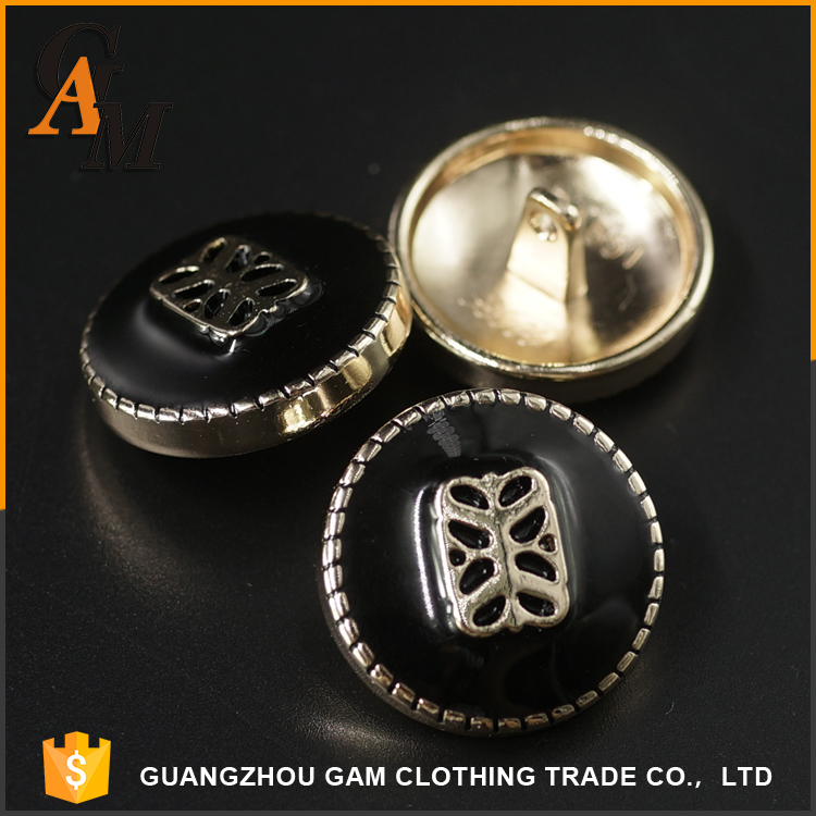 New style custom nickel metal button for clothing , custom OEM sewing shirt suit buttons for blazers