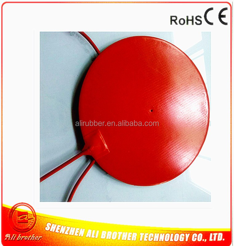 Diameter 62*1.5mm Heater for the bottom of pipe Silicone Rubber Heater 220v 30w adhesive 1 side 200mm lead wire