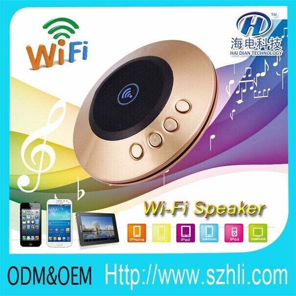 Hi-Fi Wi-Fi Hip-Hop Speaker/ wifi music player speaker control by smart phone wherever you are/FREE APP software QR code provide