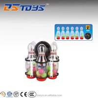 Promotion sports toys fanny clear decorated bowling pins