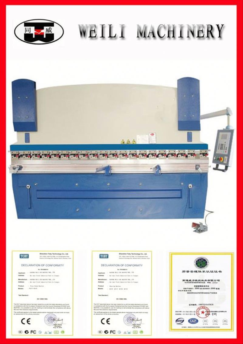 High Quality Cheap Prices WC67Y-100 hydraulic flat bar bending machines