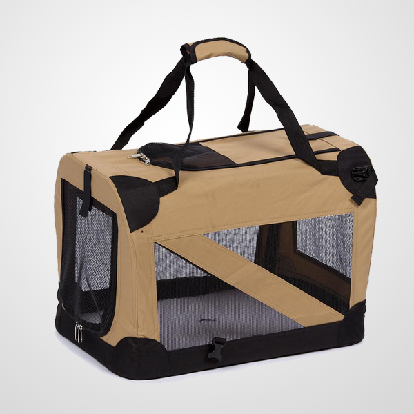 Pet Life 360-degree View Khaki Pet Carry Bag