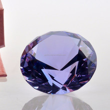 Hot sale decorative crystal purple diamond wedding gifts for guests