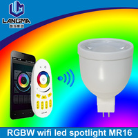 Smart 2.4GHz LED spot 4W RGBWW WIFI control gu5.3 Mi light mr16