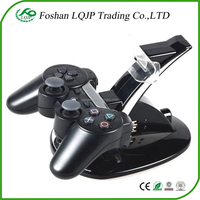 Dual Wireless Controller USB Charger Charging Dock Station Blue LED For Sony PS3 Wireless Controller dual charger