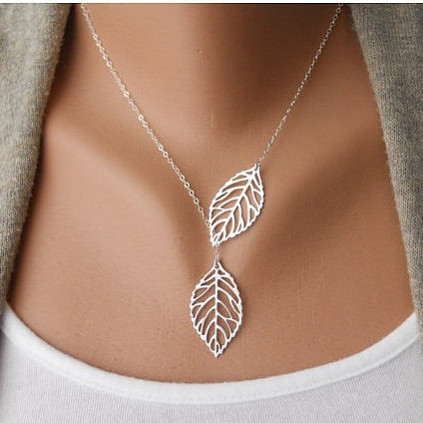 Barlaycs 2017 new fashion statement necklace&pendants metal leaf necklace women chokers wholesale C122