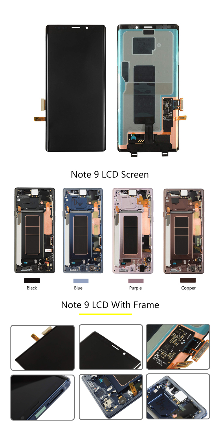 Spare parts for samsung s6 s7 s8 s8plus s9 s9plus s10 note 8 note 9 lcd screen back cover battery