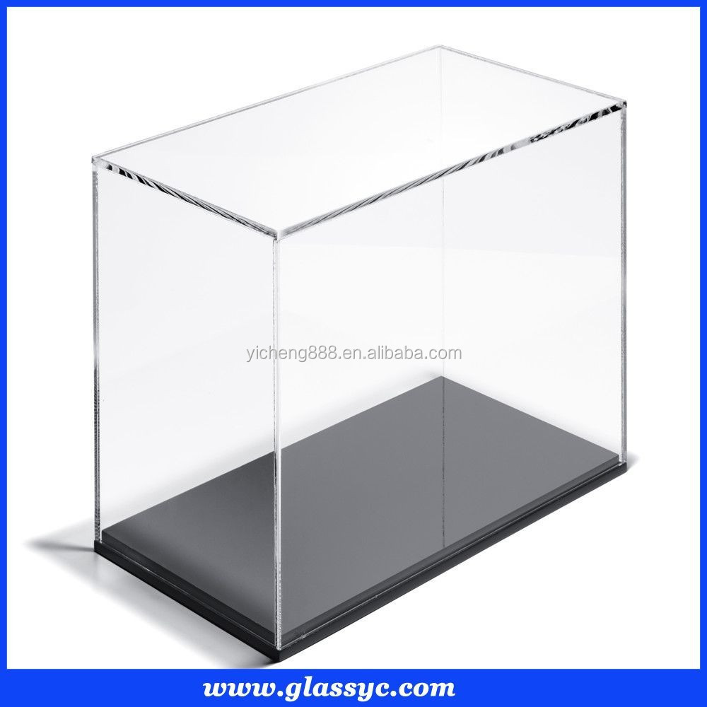 benutzerdefinierte transparenten plexiglas vitrine kleine acryl aufbewahrungsbox karton produkt. Black Bedroom Furniture Sets. Home Design Ideas
