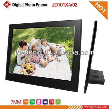 10.1 inch newest Slim 6.5mm ABS Plastic digital photo frame with Music&Video Multi-funciton