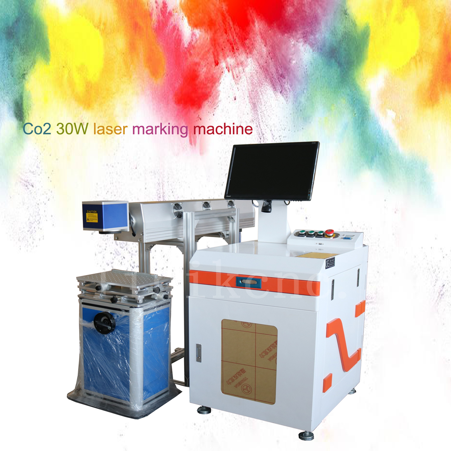 Direct sales LXC-30W plastic fiber keyboard Co2 laser marking table top