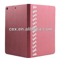 Wholesale - Factory Outlet In Stock PU Leather Case Cover with stand protective shell Cases for ipad air