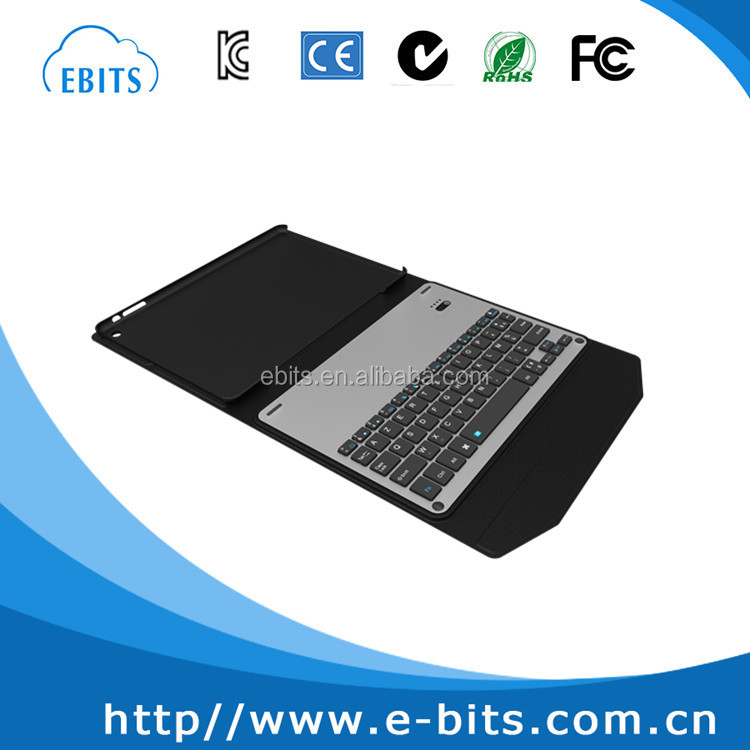 For iPad Pro 9.7 Leather Bluetooth Keyboard Case With Dual Stand Folio design