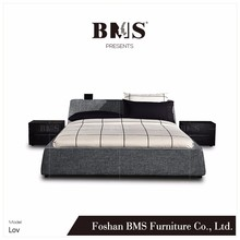 Passionate design storage headboard double cot bed models