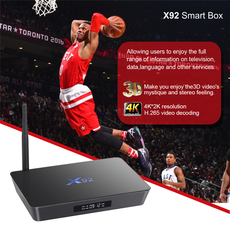 2019 Amlogic S912 play store download app photo Octa-core 2G 16G X92 S912 android 6.0 marshmallow tv box