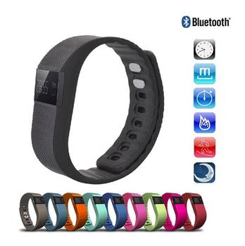 2017 hot sale TW64 Pedometer Smart Bracelet Wth Bluetooth 4.0 IP67 Anti-lost Function Black