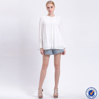 online shopping india white long sleeve sweet women blouse ladies tops design lace fashion clothing