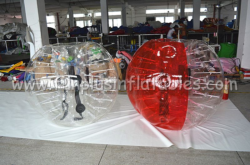 Commercial TOP inflatable body zorb ball/half red bumper ball F7017